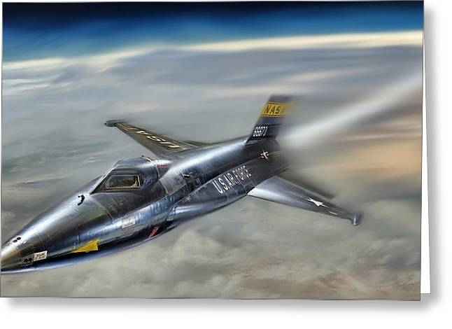 North American Aviation Greeting Cards - Hypersonic Greeting Card by Peter Chilelli