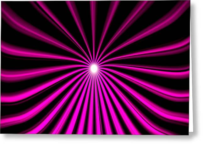 Optical Art Drawings Greeting Cards - Hyperspace Violet Square Greeting Card by Pet Serrano
