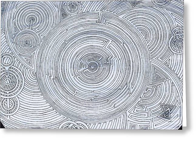 Mechanism Drawings Greeting Cards - Hypnotic Anomaly Greeting Card by Maxwell Hanson