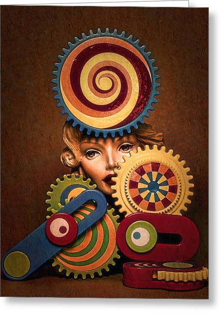 Hypnotic Woman 1 Greeting Card by Jeff  Gettis