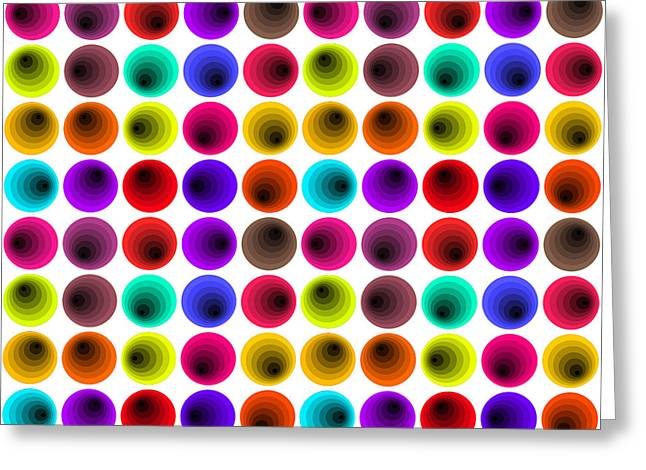 Hypnotizing Greeting Cards - Hypnotized Optical illusion Greeting Card by Sumit Mehndiratta