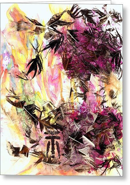Wow Mixed Media Greeting Cards - Hysteria Greeting Card by Cristina Handrabur