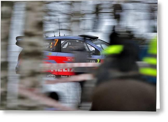 Wrc Greeting Cards - Hyundai WRC Greeting Card by Stefan Pettersson