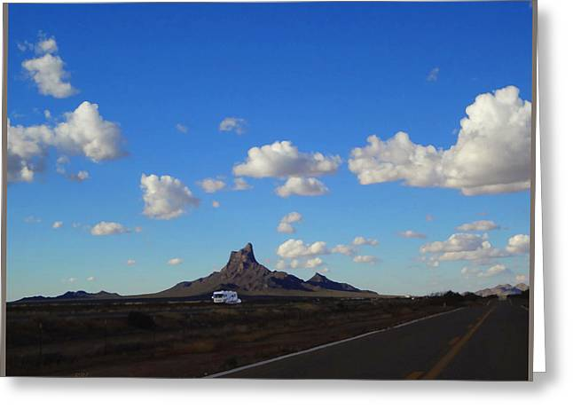 Maynard Dixon Greeting Cards - I-10 at Picacho Peak Greeting Card by Rick Lloyd