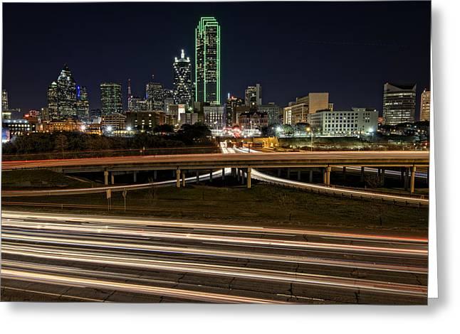 I-35e Dallas Greeting Card by Rick Berk