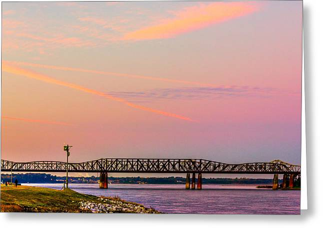 Historical Images Greeting Cards - I-55 Bridge Over the Mississippi River - Memphis - TN Greeting Card by Barry Jones