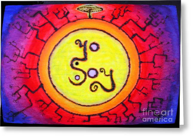 I Sculptures Greeting Cards - I Am.   /   YoSoY Greeting Card by Raul Morales