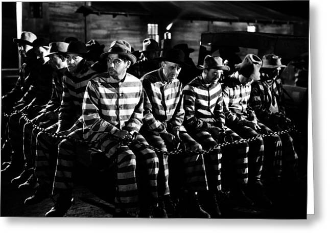 Chain Gang Greeting Cards - I Am a Fugitive from a Chain Gang  Greeting Card by Silver Screen