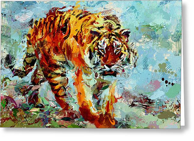 Strong Composition Greeting Cards - I am a Hunter Greeting Card by Yury Malkov