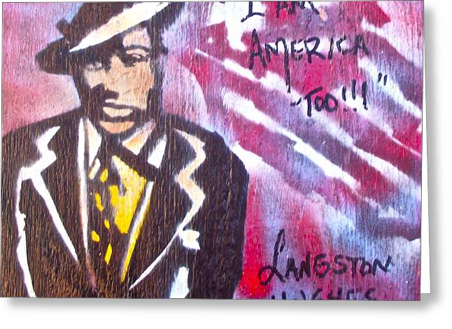 Occupy Greeting Cards - I Am America Too Greeting Card by Tony B Conscious