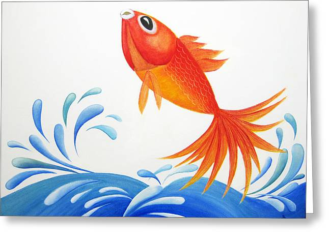 Betta Greeting Cards - I am back  Greeting Card by Oiyee  At Oystudio