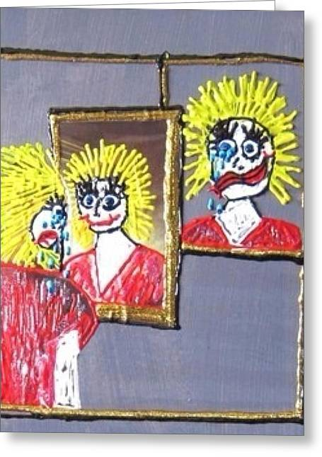 Hallucination Greeting Cards - I am Bipolar 2 Greeting Card by Lisa Piper Menkin Stegeman