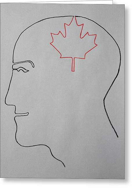 Canadian Drawings Drawings Greeting Cards - I am Canadian Greeting Card by Peter Virgancz