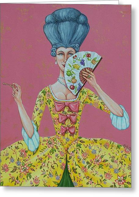 Beth Clark-mcdonal Greeting Cards - I Am Desirous of Your Acquaintence-Language of the Fan Greeting Card by Beth Clark-McDonal
