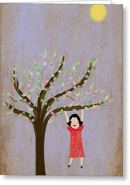 Story Greeting Cards - I Am Glad That There Are Trees Greeting Card by Katy McFall