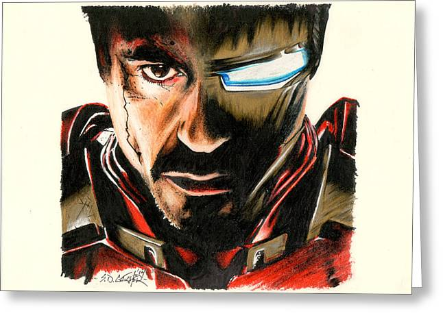 Ironman Mixed Media Greeting Cards - I Am Ironman Greeting Card by Scot Gotcher