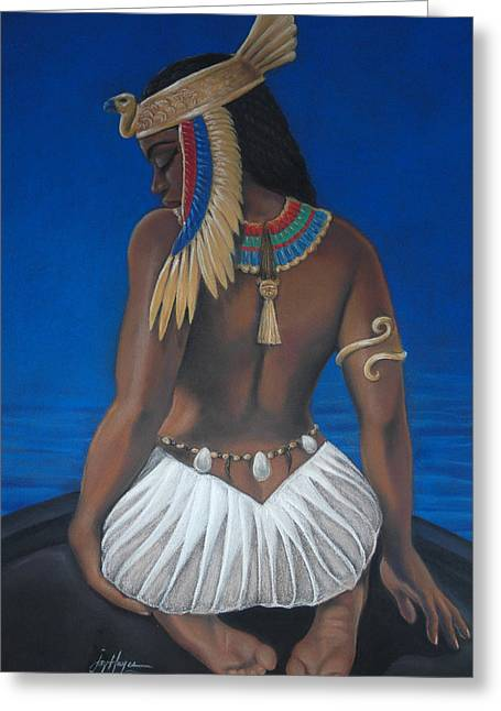 Royalty Pastels Greeting Cards - Goddess In Mourning Greeting Card by Joyce Hayes