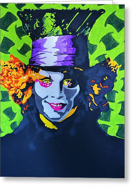 Mad Hatter Mixed Media Greeting Cards - I Am Johnny Greeting Card by Caesaray Starbuck