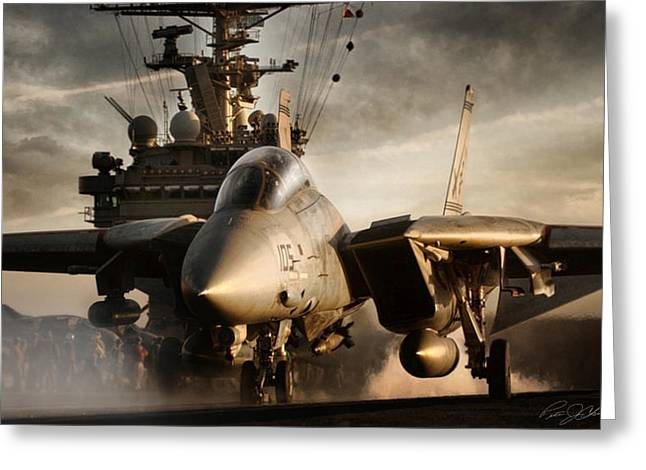 Carrier Greeting Cards - I Am Legend F-14 Greeting Card by Peter Chilelli