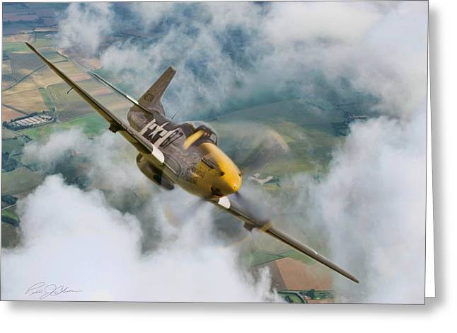 North American Aviation Greeting Cards - I Am Legend P-51 Greeting Card by Peter Chilelli