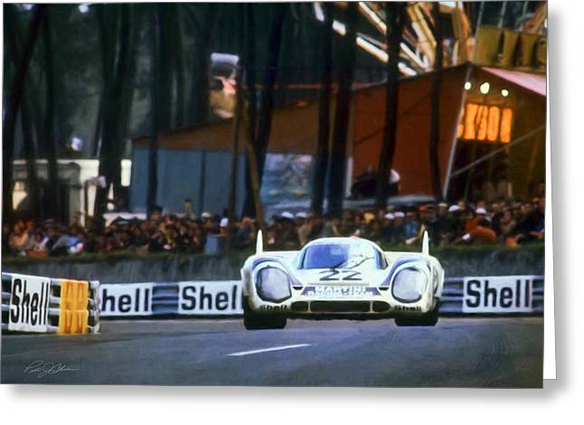 Leman Greeting Cards - I Am Legend Porsche 917 Greeting Card by Peter Chilelli
