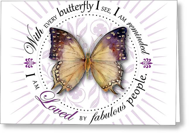 Centric Greeting Cards - I am loved by fabulous people Greeting Card by Amy Kirkpatrick