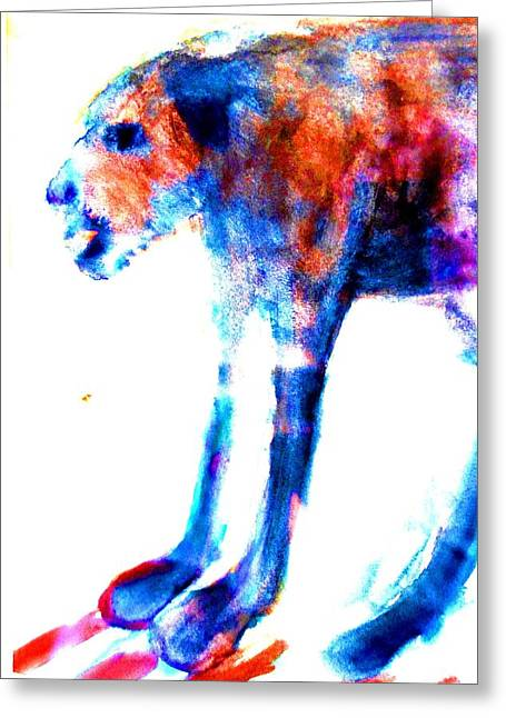 I Am Not A Beast So Please Don't Kill Me  Greeting Card by Hilde Widerberg