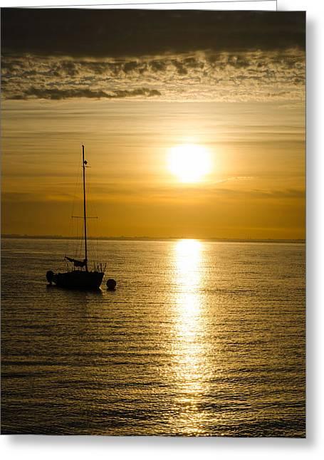 Sailboat Images Greeting Cards - I Am Not Afraid Greeting Card by Jordan Blackstone