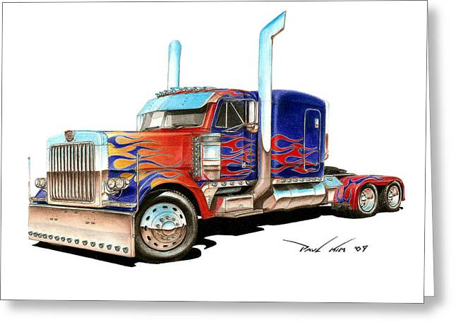 I Am Optimus Prime Greeting Card by Paul Kim
