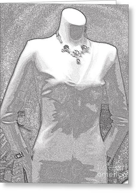 Woman In A Dress Photographs Greeting Cards - I am ready Greeting Card by L Cecka