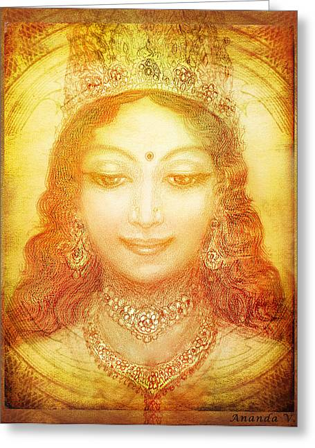Hindu Goddess Greeting Cards - I Am That Greeting Card by Ananda Vdovic