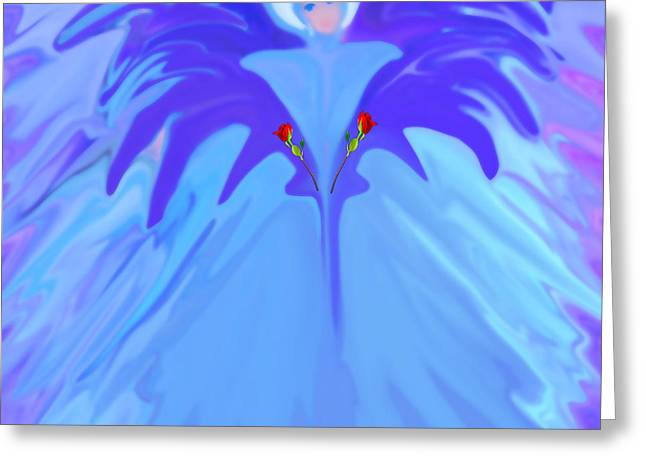 Earthangel Greeting Cards - I Am The Angel Of Flowers Greeting Card by Sherri  Of Palm Springs