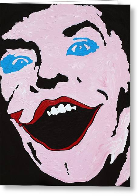 Dc Comics Paintings Greeting Cards - I am the Joker Greeting Card by Robert Margetts