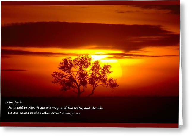 Testament Greeting Cards - I Am The Way John 14-6 Greeting Card by Jeff  Swan