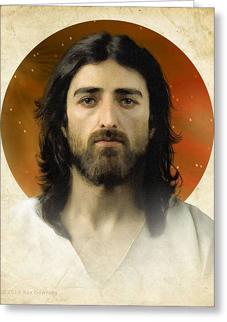 Religious work Digital Greeting Cards - I Am the Way 2 Greeting Card by Ray Downing