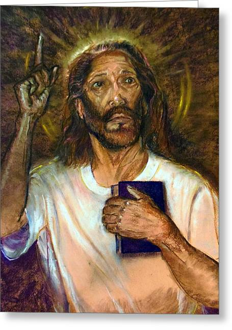 Jesus Pastels Greeting Cards - I AM the Way the Truth and the Life Greeting Card by Tommy Winn