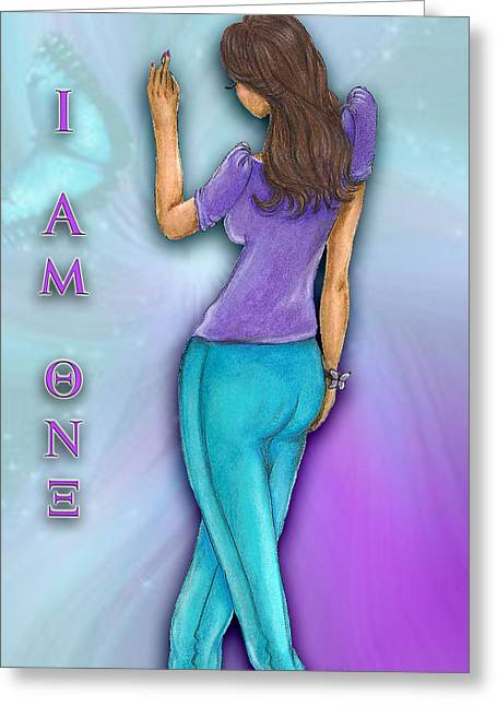 Biracial Greeting Cards - I Am Theta Nu Xi Greeting Card by BFly Designs