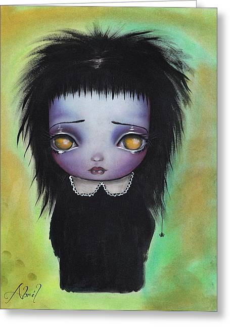 Beetlejuice Greeting Cards - I am utterly alone Greeting Card by  Abril Andrade Griffith