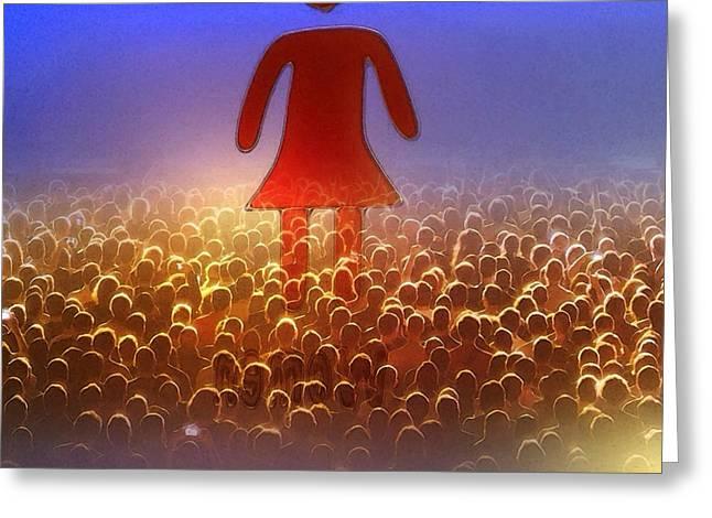 Januszkiewicz Mixed Media Greeting Cards - I Am Woman Greeting Card by Patricia Januszkiewicz