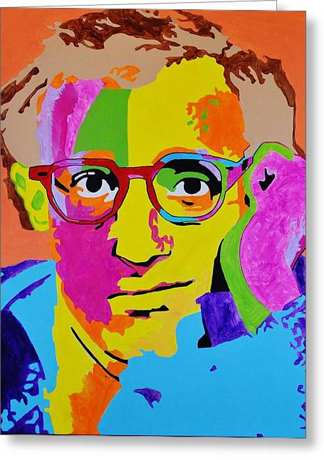 Woody Allen Greeting Cards - I am Woody Greeting Card by Caesaray Starbuck