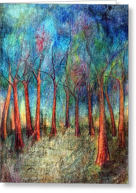 Vibrant Pastels Greeting Cards - I Arose Morning  Greeting Card by Wojtek Kowalski