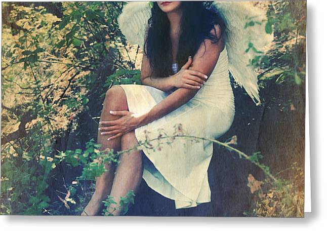 I Believe in Angels Greeting Card by Laurie Search