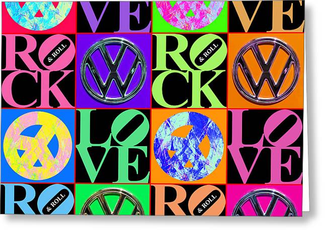 Hippie Volkswagon Greeting Cards - I Believe In Yesterday 20140605 Greeting Card by Wingsdomain Art and Photography