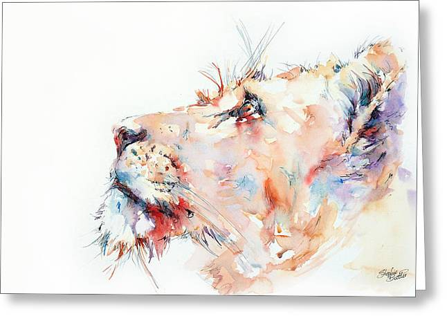 Lioness Greeting Cards - I belong to Africa ...  Greeting Card by Stephie Butler