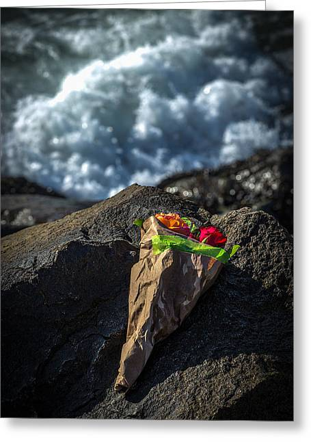 Love Lost Greeting Cards - I brought These For You You Never Came Greeting Card by Peter Tellone