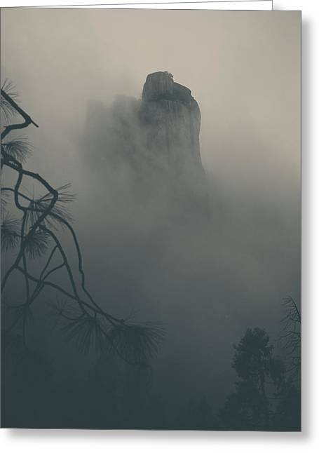 Foggy Landscapes Greeting Cards - I Can Barely Remember Greeting Card by Laurie Search
