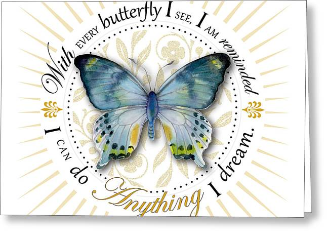 Centric Greeting Cards - I can do anything I dream Greeting Card by Amy Kirkpatrick