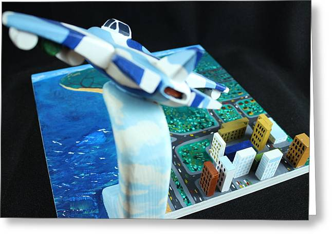 Airplane Sculptures Greeting Cards - I Can Fly Greeting Card by Troy Howard