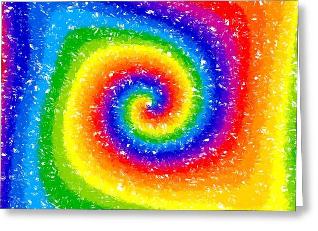I Can See A Rainbow Greeting Card by Chris Butler