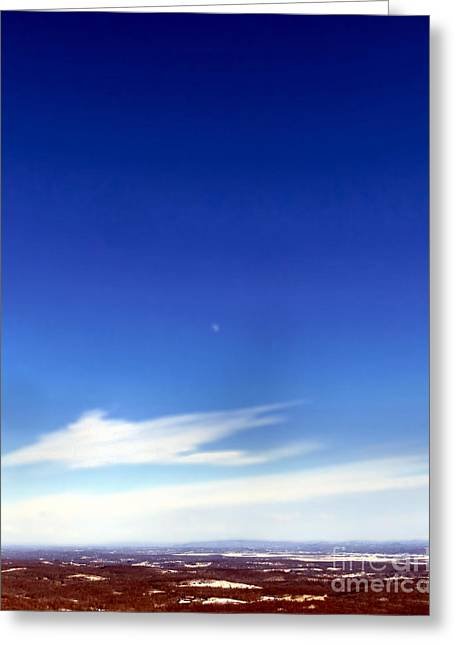 Skiing Posters Photographs Greeting Cards - I Can See For Miles and Miles Greeting Card by Michelle Milano